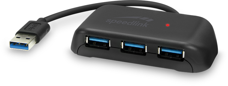 SNAPPY EVO USB Hub, 4-Port, USB 3.0, Passive, black