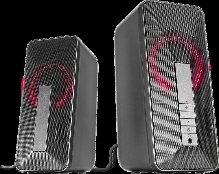 LAVEL Illuminated Stereo Speaker, black