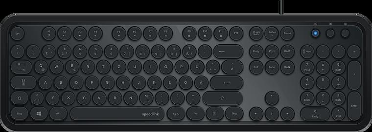 CIRCLE Retro Keyboard, black
