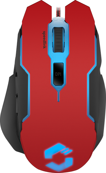 CONTUS Gaming Mouse, black-red