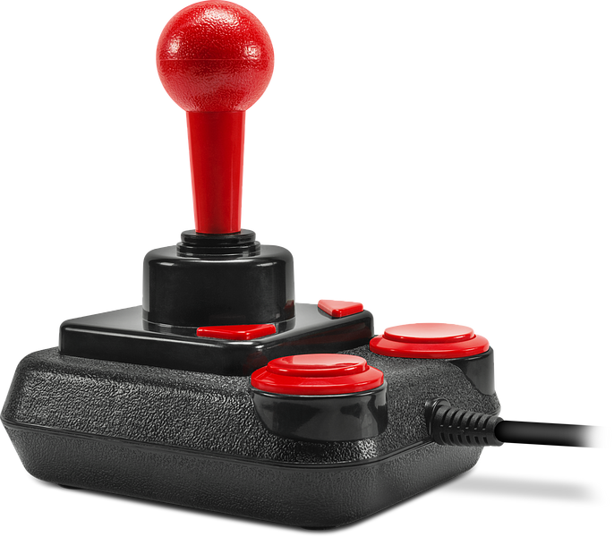COMPETITION PRO EXTRA USB Joystick, black-red