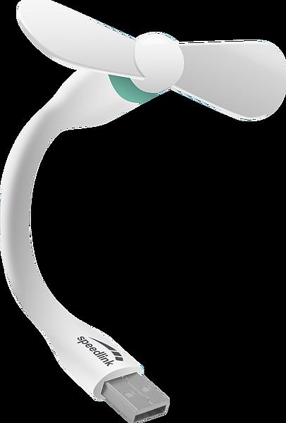 AERO MINI USB Fan, white-turquoise