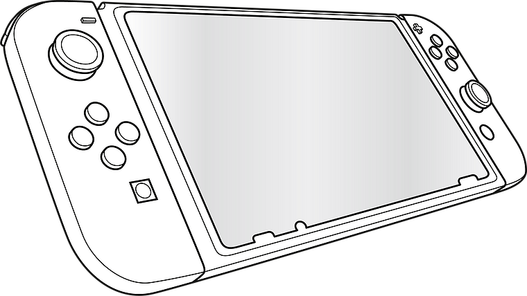 GLANCE PRO Tempered Glass Protection Kit - for Nintendo Switch
