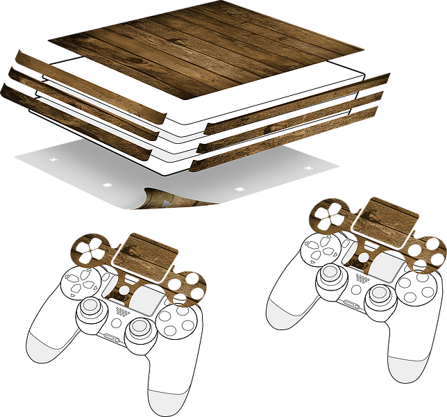 Sticker for PS4 PRO & Controller, Wood