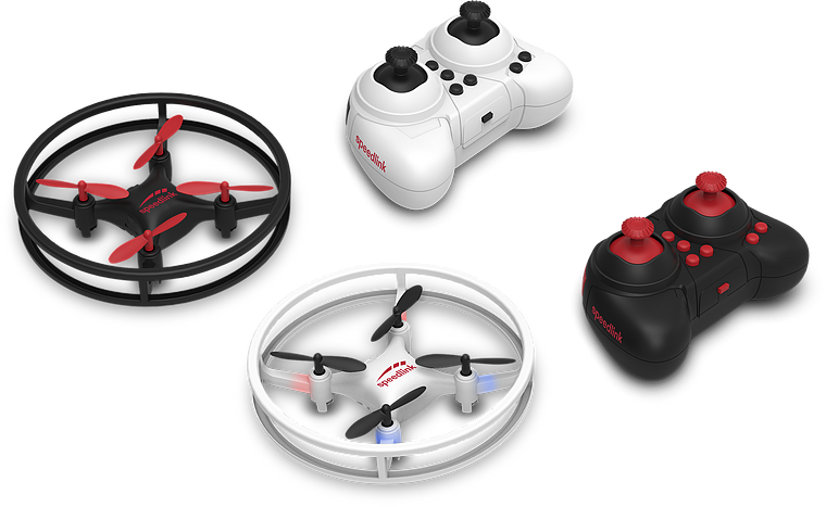 RACING DRONES Competition Set, black-white