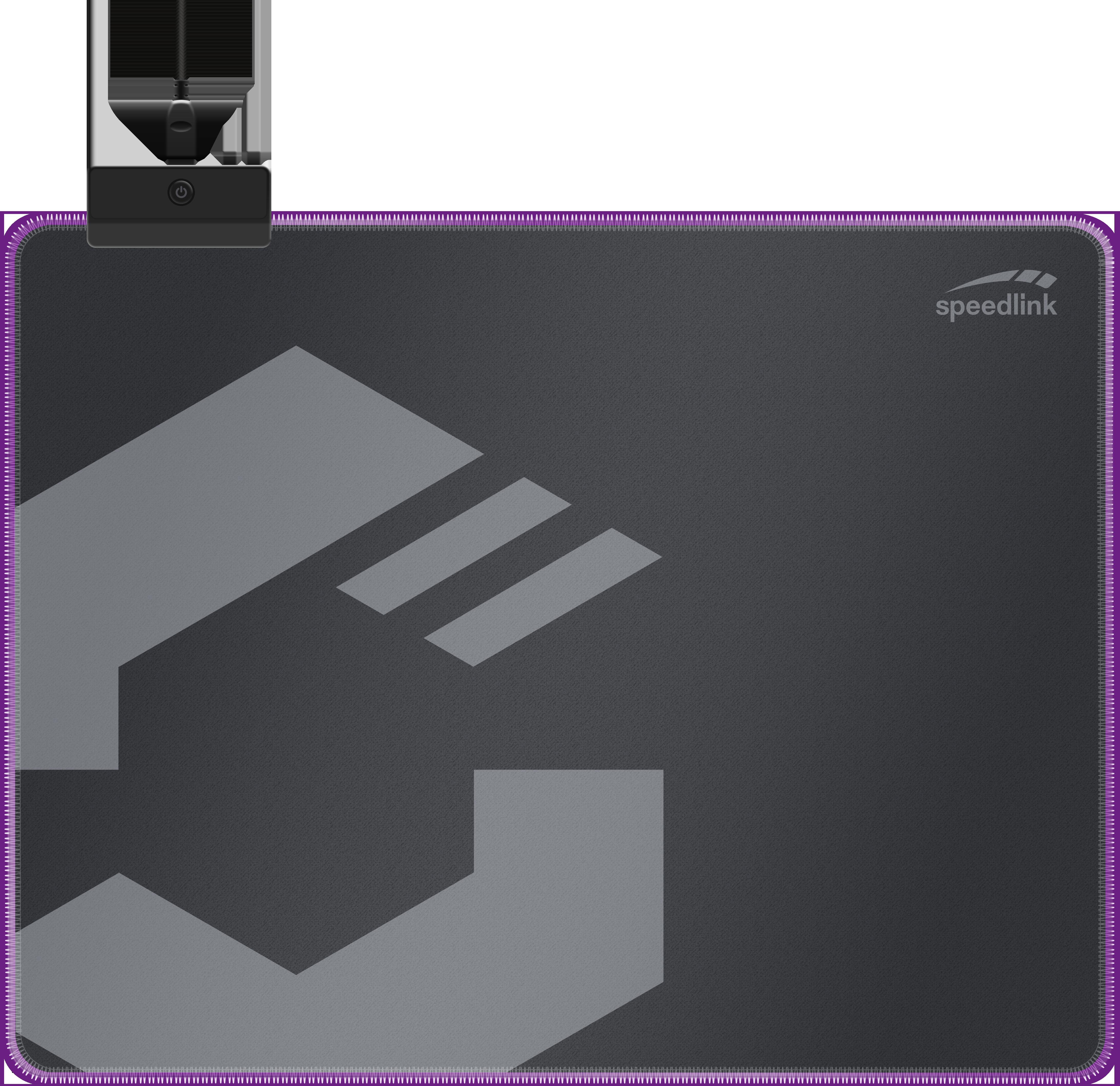 LEVAS LED Soft Gaming Mousepad - Size M, black