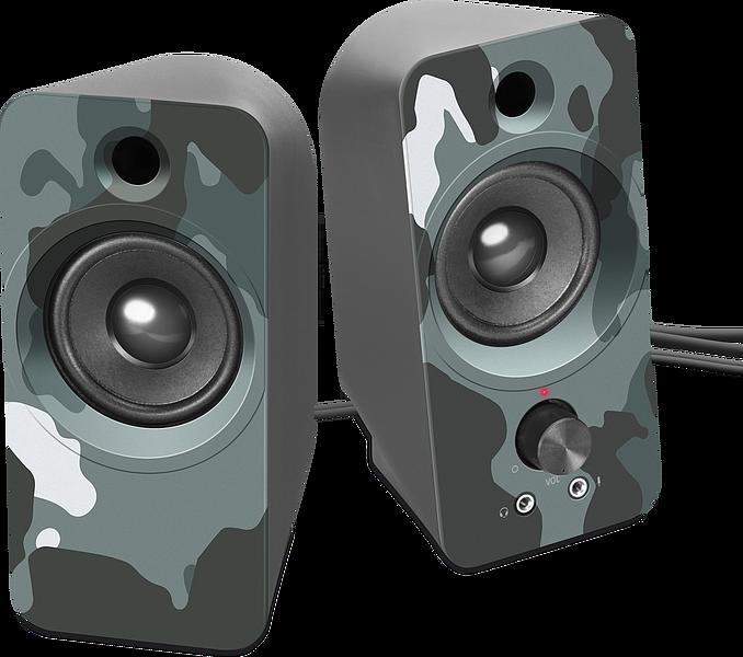 DAROC Stereo Speaker, blue camouflage