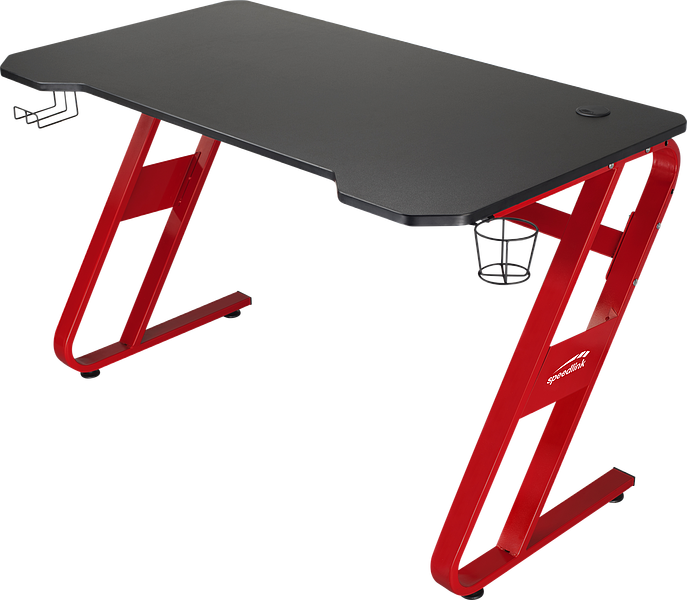 SCARIT Gaming Desk, black-red
