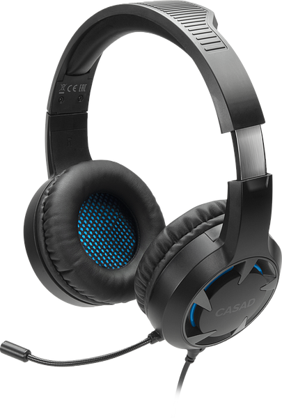 CASAD Gaming Headset - for PC/PS5/PS4/Xbox SeriesX/S/Switch, black