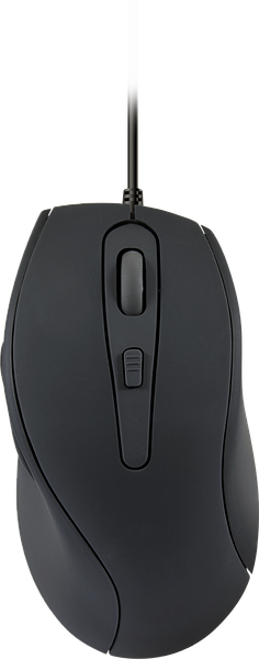 AXON Silent & Antibacterial Mouse - USB, rubber-black