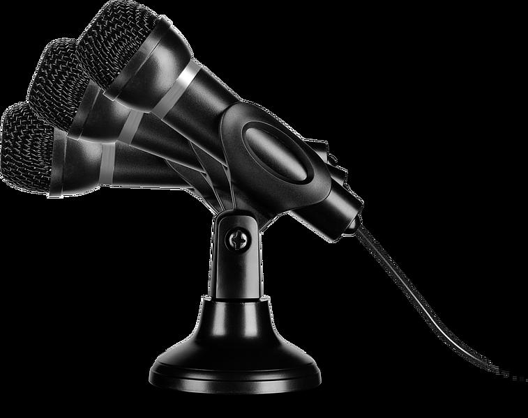 CAPO USB Desk & Hand Microphone, black