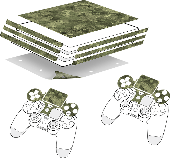 Sticker for PS4 PRO & Controller, Camo