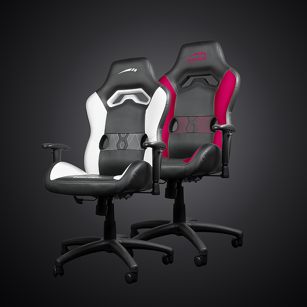 LOOTER Gaming Chair, black-white