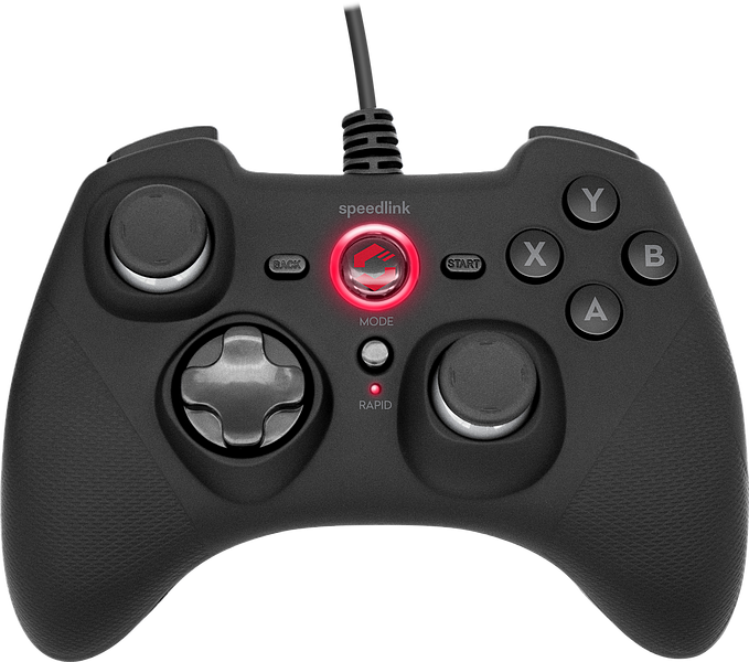 RAIT Gamepad - for PC/PS3/Switch, rubber-black