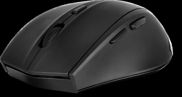 CALADO Silent Mouse - Wireless USB, rubber-black