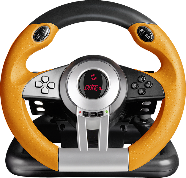 DRIFT O.Z. Racing Wheel PC, black-orange