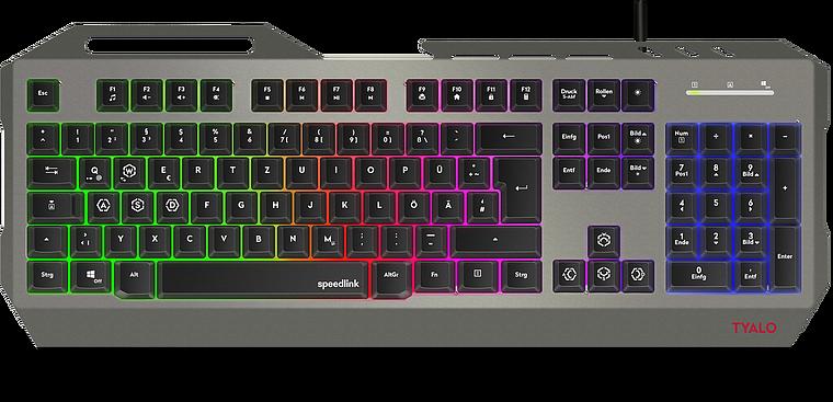 TYALO Illuminated Gaming Deskset - DE layout