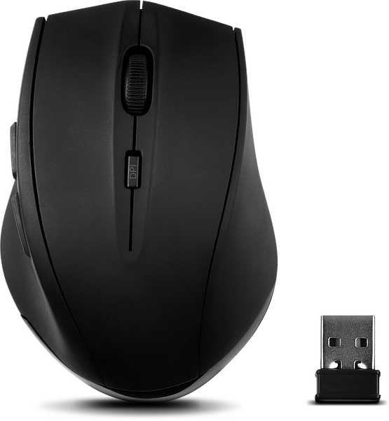 CALADO Silent Mouse - Wireless USB, rubber-black
