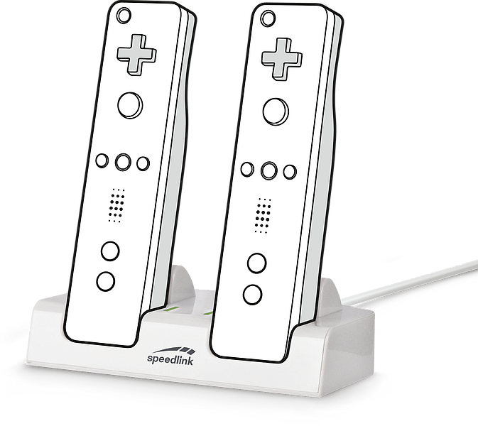 JAZZ USB Charger - for Wii/ Wii U, white
