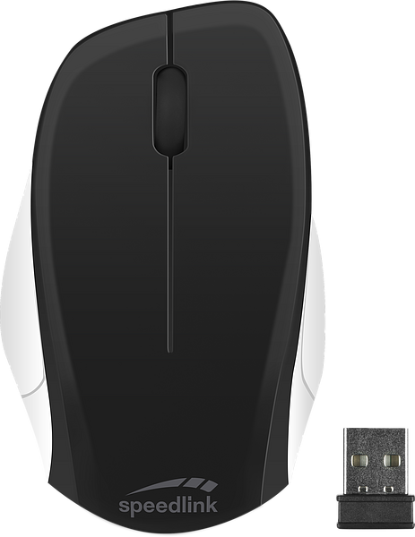 LEDGY Mouse - Wireless, Silent, black-white