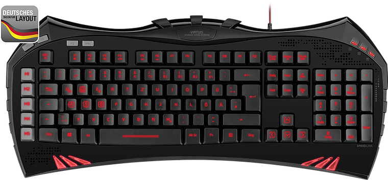 VIRTUIS Advanced Gaming Keyboard, black