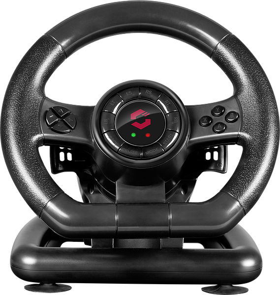 BLACK BOLT Racing Wheel - for PC, black