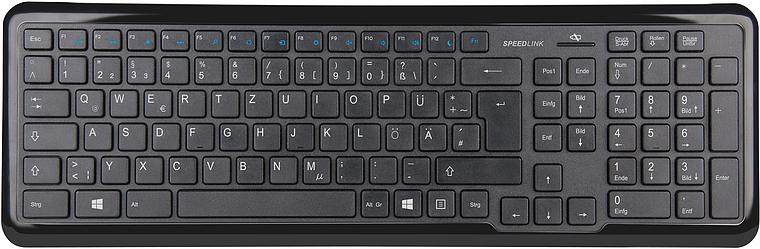 METOS Wireless Multimedia Keyboard, black