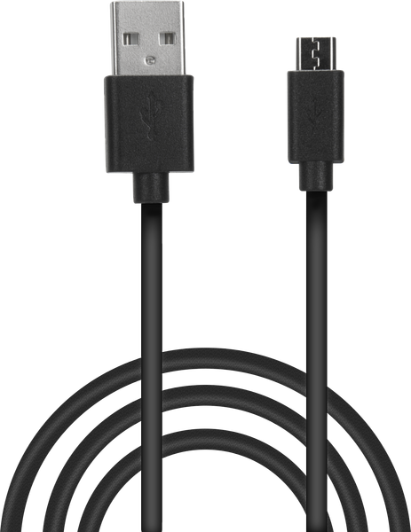 STREAM Play & Charge USB Cable Set - for PS4, black