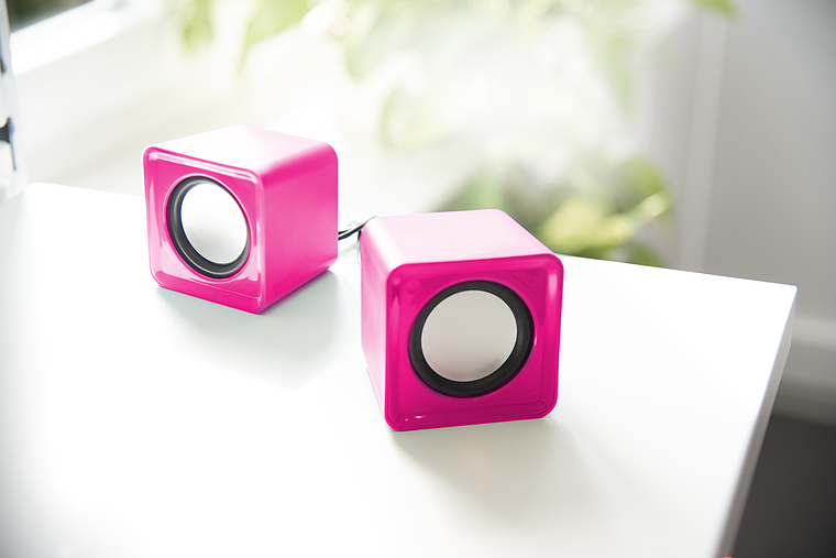 TWOXO Stereo Speakers, pink