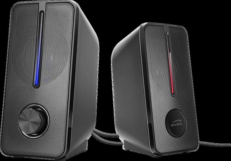 BADOUR Illuminated Stereo Speaker, black