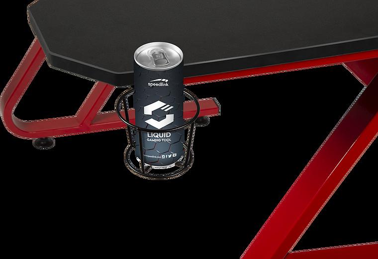 SCARIT Gaming Desk, black-red