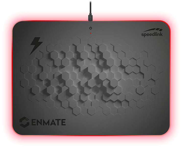 ENMATE RGB Charging Mousepad, grey