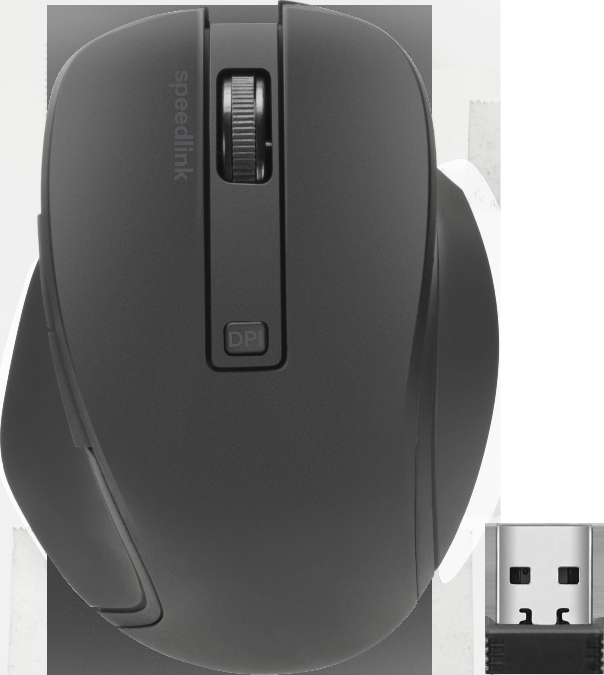 CALADO Compact Silent Mouse - Wireless, rubber- black