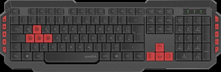 LUDICIUM Wireless Gaming Keyboard, black